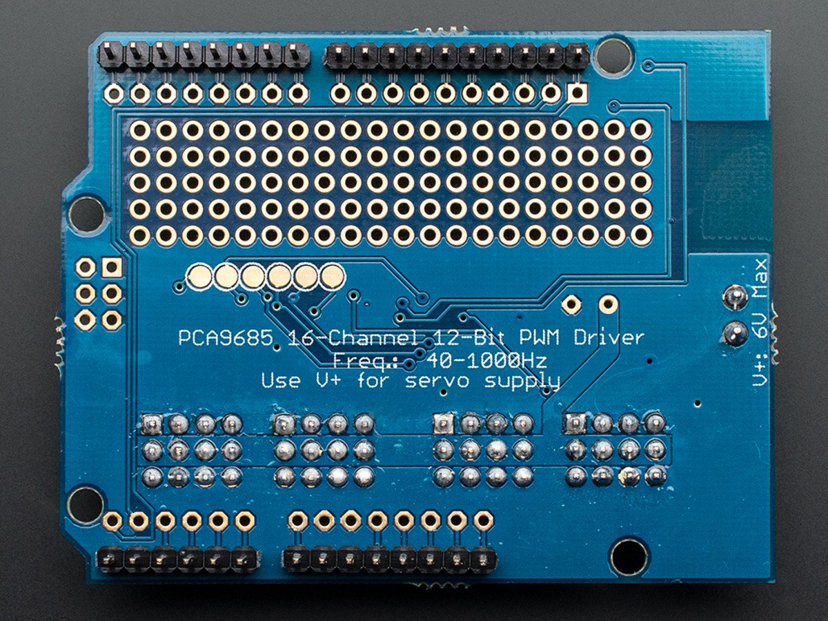 PCA9685 12 BIT 16 CHANNEL ARDUINO SERVO SHIELD