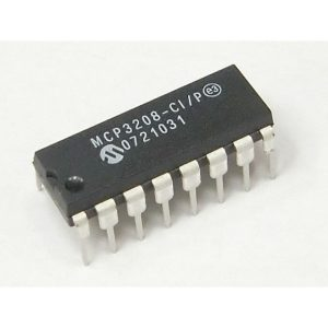 ADC MCP3208 12 BIT ANALOG TO DIGITAL IC