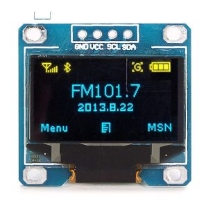 0.96 Inch 4Pin Yellow Blue color IIC I2C OLED Display Module 12864 LED For Arduino
