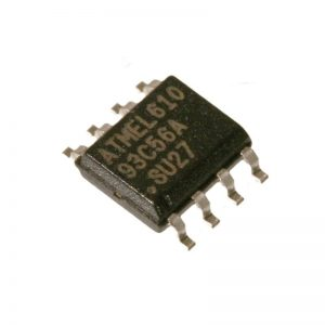 EEPROM SERIAL 2K, SMD, 93C56, SOIC8, Clock Frequency:2MHz