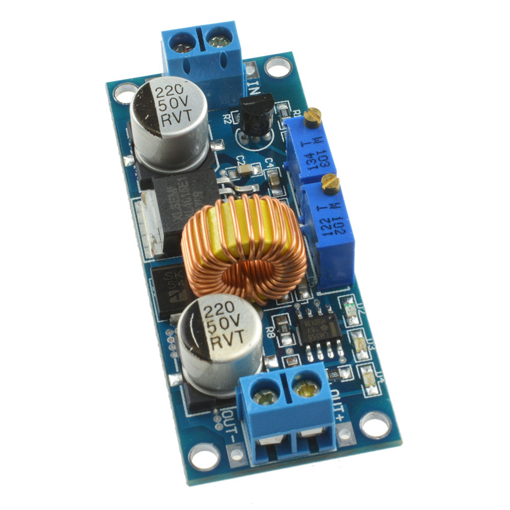 dc dc step down  5A XL4015 Adjustable Step Down DC To DC Buck Converter - ELECTROBIST