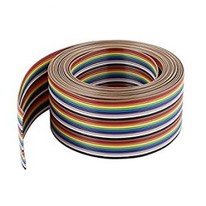 26 Wires Rainbow Color Flat Ribbon Cable 1 feet